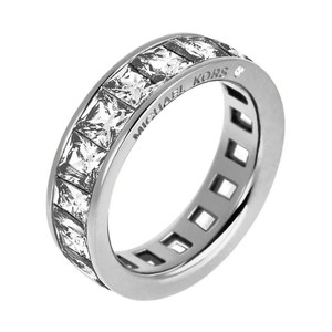 Michael Kors Michael Kors MKJ4751 Silver Tone Princess Cut Crystals Eternity Ring 6