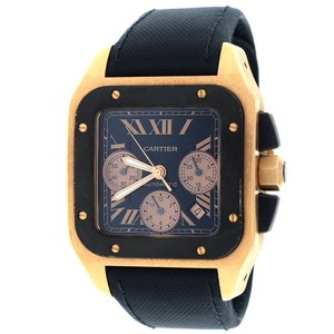Cartier Cartier Santos 100 XL 18K Rose Gold Chronograph Watch W2020003