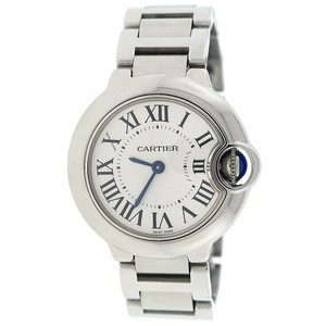 Cartier Cartier Ballon Bleu Small Silver Roman Dial Steel Ladies W69010Z4
