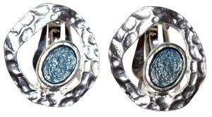 Other Pewter Majestic Enamel Textured Earrings Clip On