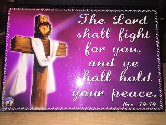 "Other ""The Lord shall fight for you-hold your peace"" Exodus 14:14 Wall Plaque/ Table Stand; [ MissSundayBest Closet ]"