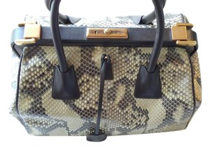 Prada Tote in Multi-colored; Chocolate Brown, Cream