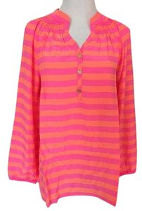 Lilly Pulitzer Top Neon Orange and Pink