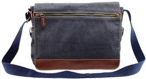 Fossil Canvas Leather Cross Body Bag