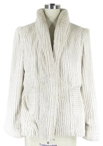 Yoana Baraschi Faux Fur Swing Cream Jacket