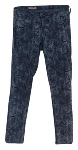 AG Adriano Goldschmied Super Skinny Ankle Legging Ankle Great Print Mid Rise Skinny Jeans-Medium Wash