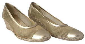 Sesto Meucci Gold Wedges