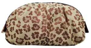 Fendi Leopard Nylon Zip Closure Accessories Cosmetic Bag Pouch