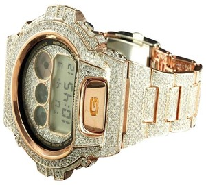 G-Shock Iced Out Wristwatch Gshock Dw6900 Rose Gold Tone G Shock Watch