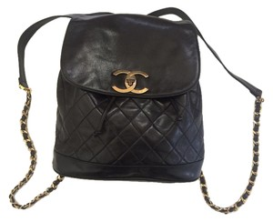 Chanel Vintage Lambskin Chain Backpack