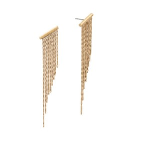Michael Kors Michael Kors MKJ5791 Polished Gold Modern Chain Fringe Dangle Earrings