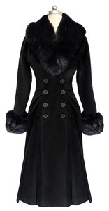VImage Women Winter Long Fur Fur Coat