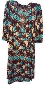 Bisou Bisou V Neck Polyester Dress