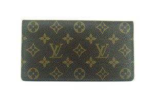 Louis Vuitton Rare Vintage Monogram Canvas Leather Oversized Long Wallet France