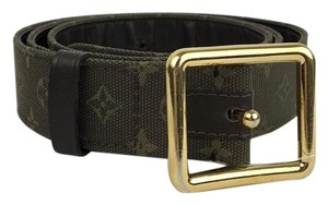 Louis Vuitton Louis Vuitton Army Green Canvas Monogram Belt