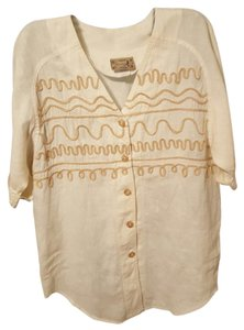 Monique Lhuillier Cotton Linen Tunic