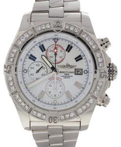 Breitling Breitling Super Avenger Chronograph 48MM Steel A13370 Diamond Bezel