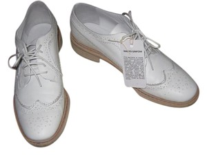 Mauro Grifoni Brogues Oxford Leather White Flats
