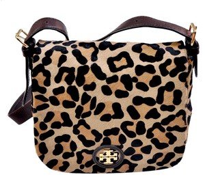 Tory Burch Leather Calf Hair Cross Body Bag