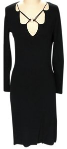 BCBGMAXAZRIA Longsleeve Sheath Shift Embellished Dress