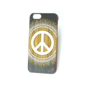Case Yard NEW Cherry Wood iPhone Case with Vintage Peace Design, iPhone 7
