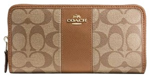 Coach Signature accordion zip wallet