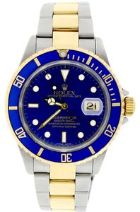 Rolex Rolex Submariner Date 2-Tone Gold/Steel Blue Dial 40mm Oyster 16613