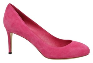 Gucci W/interlocking G Suede 338726 Pink Pumps