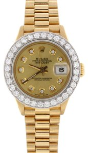 Rolex Rolex President Datejust Ladies Gold 26MM 69178 Diamond Bezel, Dial