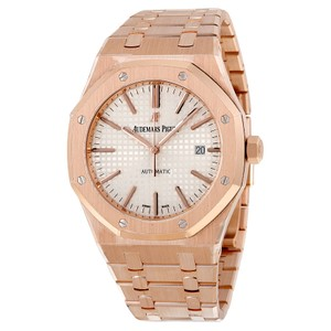Audemars Piguet Royal Oak Automatic Blue Dial 18kt Pink Gold Men's Watch
