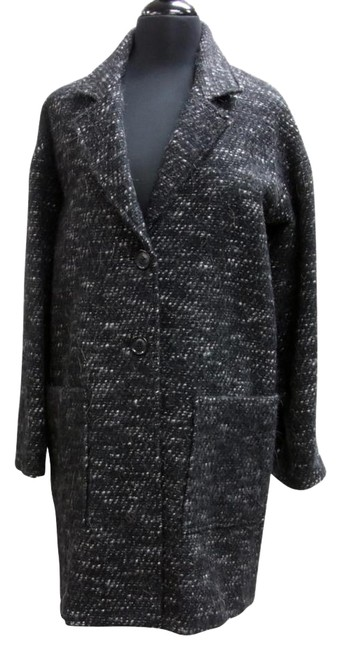 Item - Black Double Breasted Wool Blend Small Trench Coat Size 2 (XS)