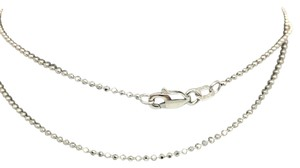 Other 14K White Gold Diamond Cut Bead Chain ~1.10mm 18 Inches