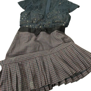 Marc Jacobs Slip Plaid Bow Heart Dress