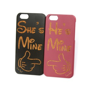 Case Yard NEW Cherry Wood iPhone Case with He's She's Mine Design, iPhone 7+