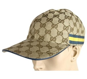 Gucci Original GG Canvas Baseball Hat w/Blue Yellow Web Size XL 200035 9796