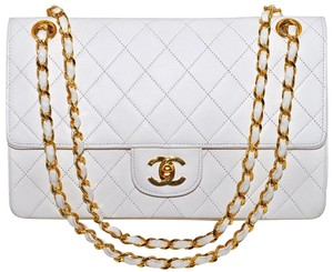 Chanel Lambskin Double Flap Quilted Shoulder Bag
