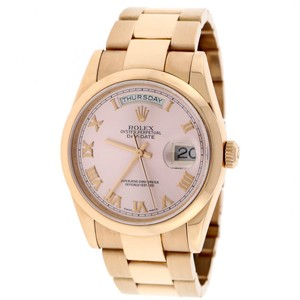 Rolex Rolex President Day-Date Gold Pink Domed Bezel 36MM Oyster 118205