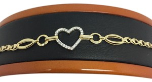 Other 14K Yellow Gold CZ Heart Bracelet