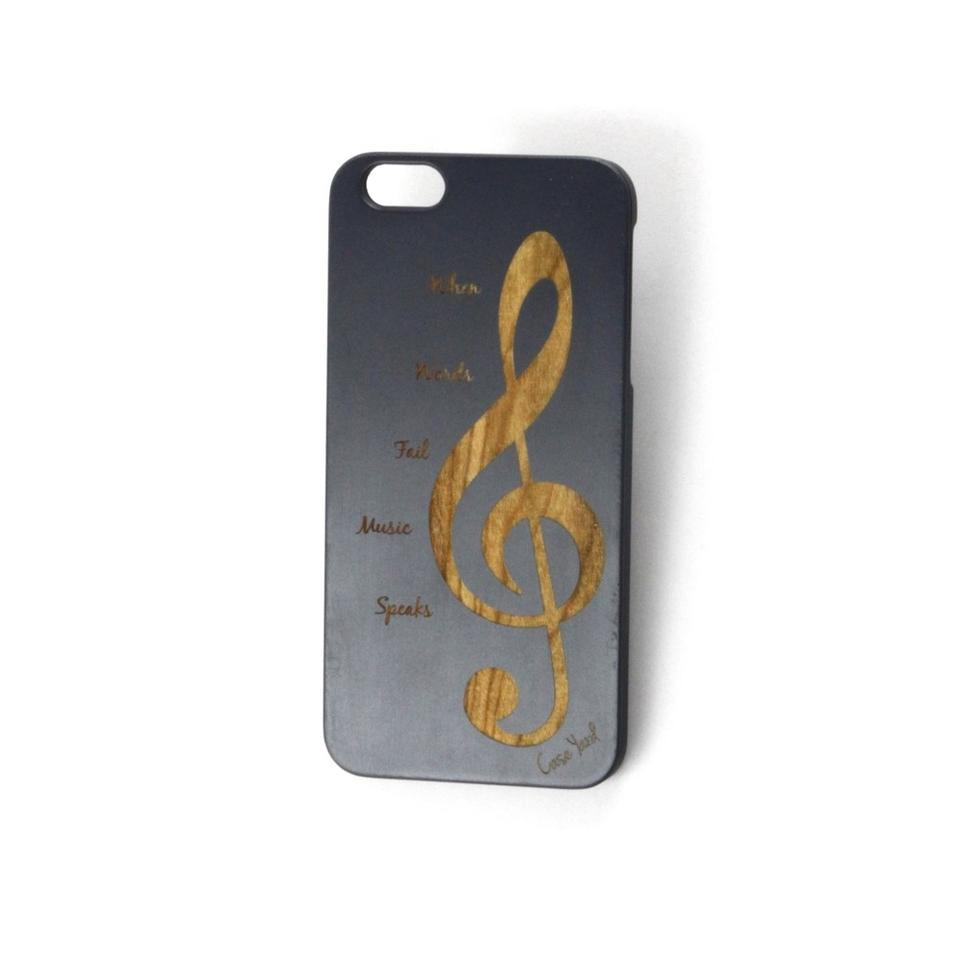 best service a888f 85134 Black New Cherry Iphone with Music Note Design Iphone 6s Tech Accessory