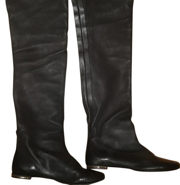 Item - Black Over-the-knee Leather Boots/Booties Size US 10.5 Regular (M, B)