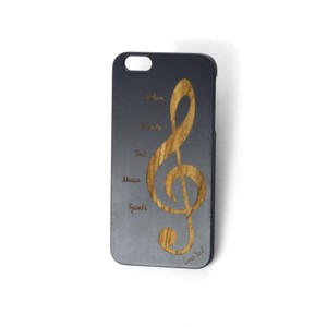 Case Yard NEW Cherry Wood Black iPhone Case with Music Note Design, iPhone 6s+