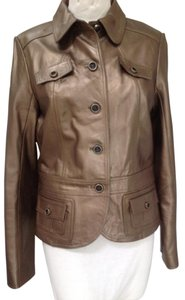 Cache Leather (100%) Gold Jacket