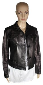 Louis Vuitton Coat Black Leather Leather Jacket