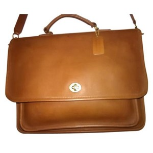 Coach Tan/Brown Messenger Bag