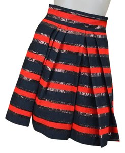 Marc by Marc Jacobs Holiday Rare Stripes Pleated Skirt Red & Black