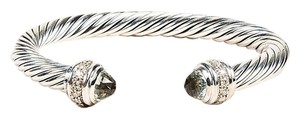 David Yurman David Yurman Sterline Silver Diamond & Prasiolite Cable Cuff
