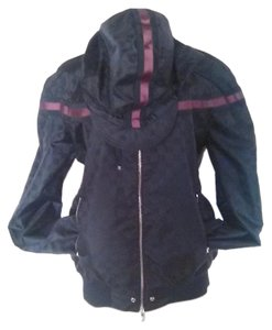 Gucci black with red stripe Jacket