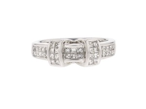 Other 0.70ct Princess Cut Diamond And 14k White Gold Ring Si1-si2 G-h