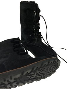 UGG Australia Winter Lace Up Suede Waterproof BLACK Boots