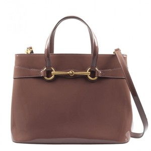 Gucci Patent Leather Horsebit Gold Hardware Patent Structured Satchel in Pink